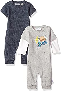 Rosie Pope Baby Boys 2 Pack Short Long Sleeve Romper