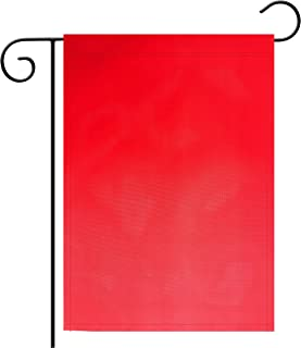 """TSMD Solid Red Garden Flag Double Sided Plain Red DIY Flags,Outdoor Yard Decorative Flags,12""""x 18"""""""