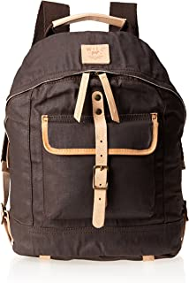 Will Leather Men's Waxed Canvas Dome Backpack
