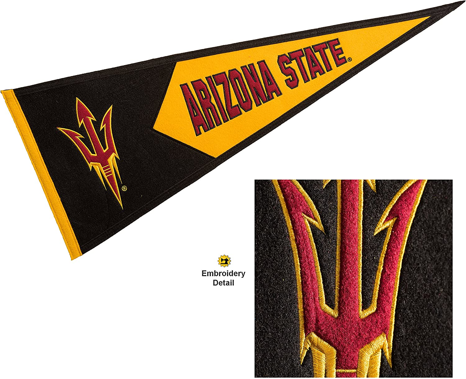 Winning Streak Arizona State Sun Devils Wool Embroidered and Sewn Pennant