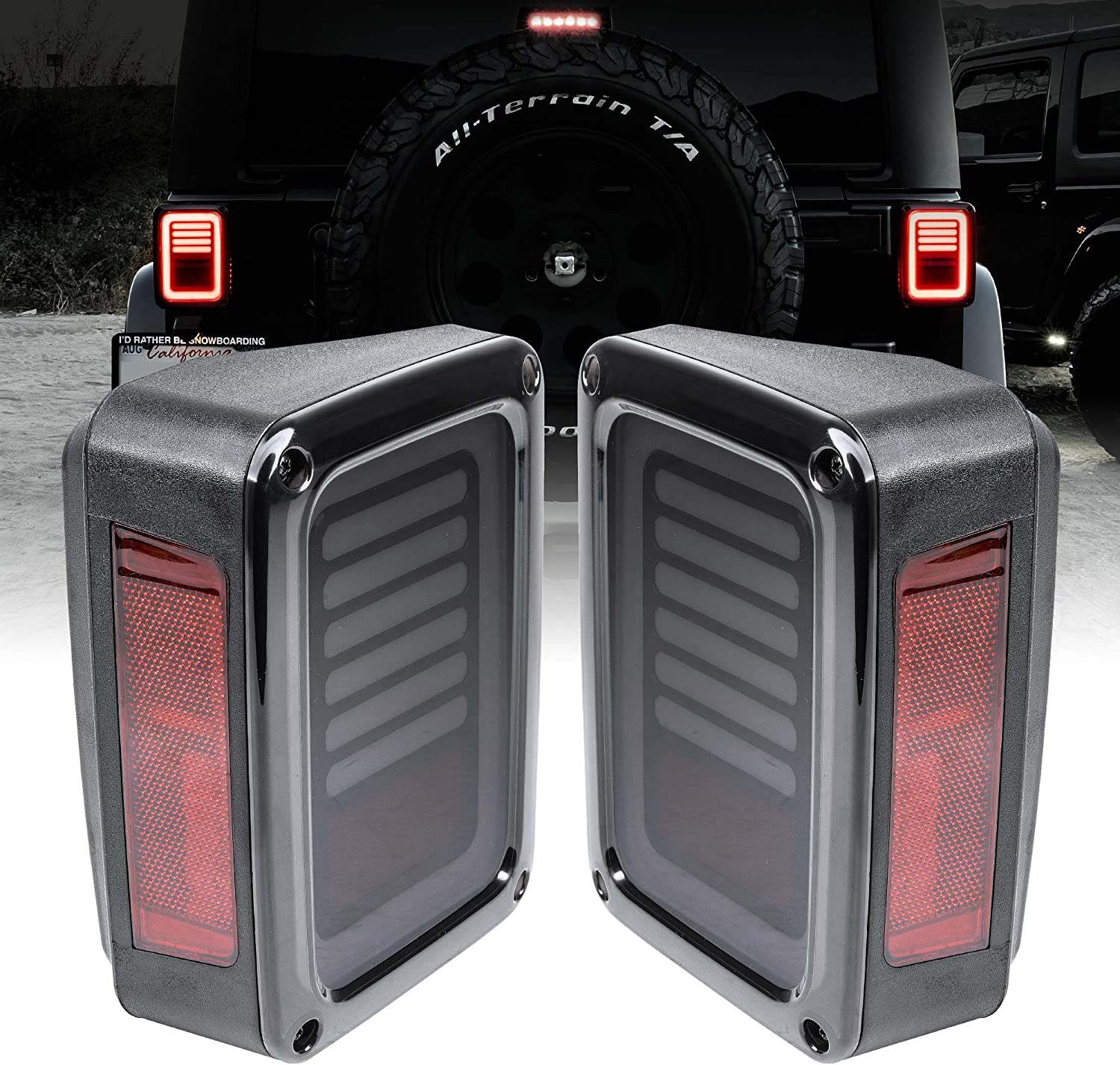 Max 59% OFF LED Rear Tail Light Replacement 2007-2018 Jeep Wrangler for San Antonio Mall Lin