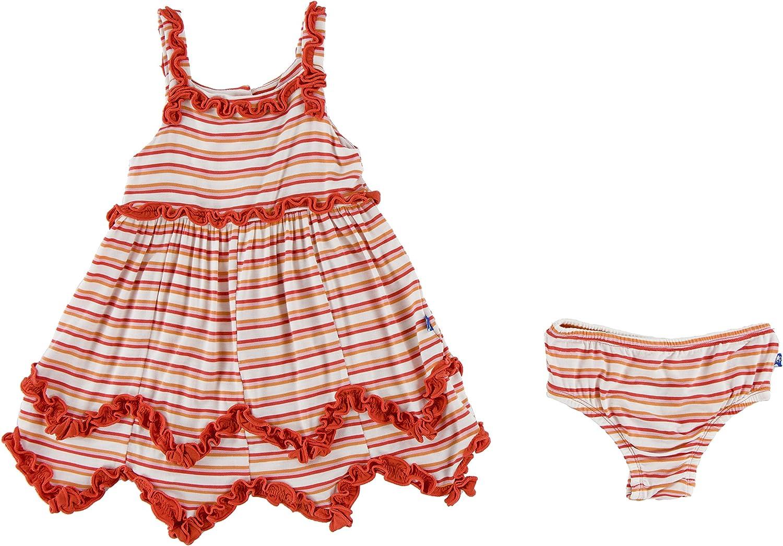 Kickee Pants Little Girls Print with Dress Ruffle Bloomer Tank quality assurance Max 54% OFF
