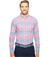Vineyard Vines - Coral Cliff Plaid Slim Murray Shirt