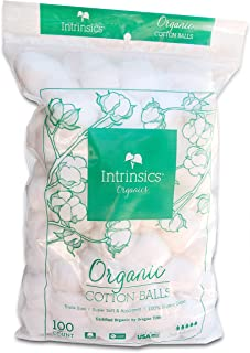 Intrinsics Triple-Sized Organic Cotton Balls - 100 Count