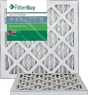 FilterBuy 13.25x13.25x1 MERV 13 Pleated AC Furnace Air Filter, (Pack of 2 Filters), 13.25x13.25x1 – Platinum