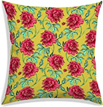 RADANYA Polyester Floral Designer Decorative Throw Pillow/Cushion Covers - 20 x 20 inches-Insert not Included