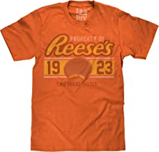 Tee Luv Reese's Peanut Butter Cup T-Shirt - Retro Reeses Candy Logo Shirt