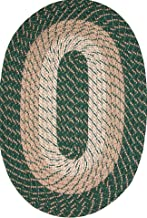 "product image for Plymouth 20"" x 30"" Braided Rug in Hunter Green Made in USA"