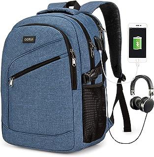 Mochila para ordenador portátil, bolsa para ordenador portátil para hombre y mujer, mochila impermeable para el día a día,...