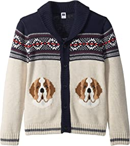 Dog Shawl Cardigan (Toddler/Little Kids/Big Kids)