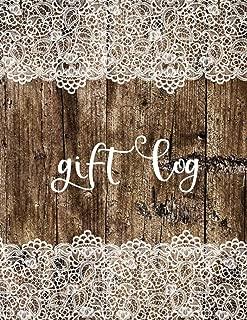 Gift Log: Vintage Luxury Lace, Notebook Record, Present Receipt Log Organizer, Anniversary, Birthdays