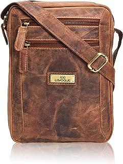 Messenger Crossbody over the shoulder Vintage Leather Bag for Men & Women - Handmade by LEVOGUE