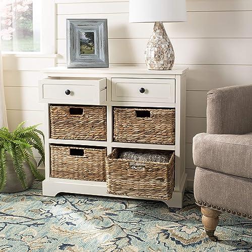 Wicker Basket Storage Cabinet Amazoncom