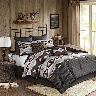 Woolrich Bitter Creek Oversized Comforter Set Grey/Brown Queen