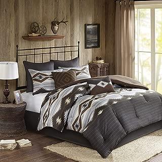 Woolrich Comforter Set, Queen, Bitter Creek Grey/Brown