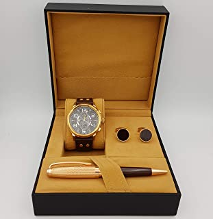 New Fande Watch Set For Men Analog Leather - NF006493