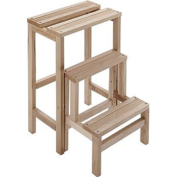 Aranaz 11001 Chaise Escalier Bois de Pin 39 x 53 x 91 cm