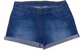 Womens Mid Rise Stretchy Denim Jean Shorts