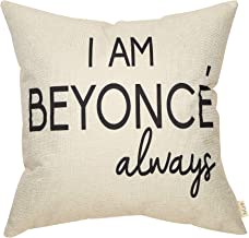 Fjfz The Office Funny Decoration TV Show Lover I am Beyonce Always, Michael Scott Sign Décor Cotton Linen Home Decorative ...