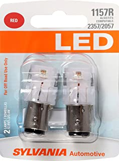 SYLVANIA - 1157 LED Red Mini Bulb - Bright LED Bulb, Ideal for Stop and Tail Lights (Contains 2 Bulbs)
