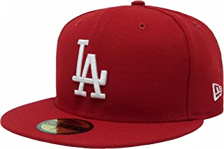 New Era 59Fifty MLB Basic Los Angeles Dodgers Scarlet Red Fitted Headwear Cap