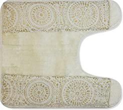 "Popular Bath Contour Bath Rug, Vescade Collection, 23"" x 10.5"", Beige"