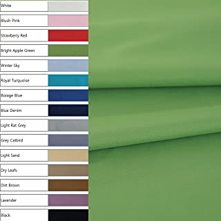 COTTONVILL Cotton 40count Twill 63inch Solid Woven Fabric 3 Yards (Bright Apple Green 8038)