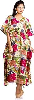 Women V-neck Kimono Long Loose Maxi Beach Wear Dress Bohemian Indian Plus Size Kaftan