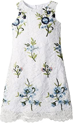 Us Angels Embroidered Lace Sheath (Toddler/Little Kids)