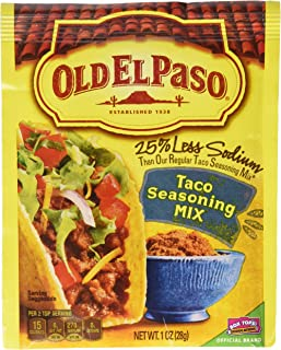 Old El Paso Low Salt Taco Seasoning Mix, 1-ounce Packages (8 Pack)