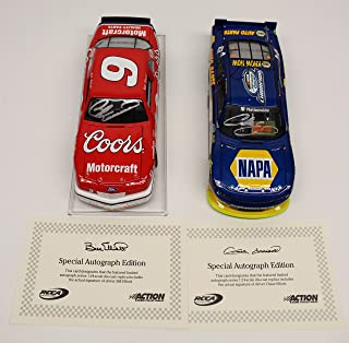 Chase Elliott & Bill Elliott Auto'd NASCAR Champions 2 pack 1:24 Nascar Diecast