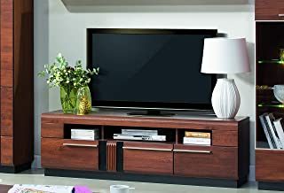 Marque Amazon -Alkove - Meuble TV Malvern en bois solide, 160 x 51 x 42cm, Chêne Antic