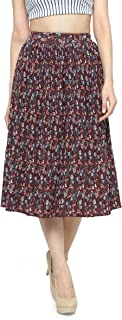CAMEY Women Printed Short Skirt Red