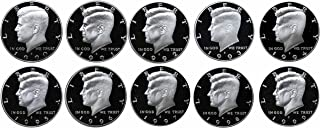 1990-1999 S Kennedy Half Dollars Gem Proof Run 10 Coins US Mint Decade Lot Complete 1990's Set