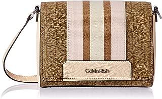 Calvin Klein womens Calvin Klein Clara Signature Monogram Key Item Demi Shoulder Bag