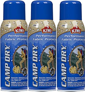 Kiwi Camp Dry Water Repellent Performance Fabric Protector, 10.5 oz 3 Pack