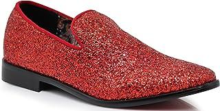 9494d15c893e SPK04 Men's Vintage Glitter Dress Loafers Slip On Shoes Classic Tuxedo  Dress Shoes