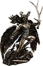 Irish Celtic War Goddess Winged Morrigan With Antler Sword Decorative Figurine 10.75