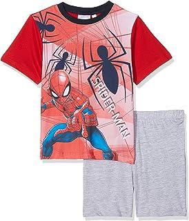 con Stampa Frontale 46302 Marvel Pigiama Bambino Estivo Spider-Man Corto in Cotone Art