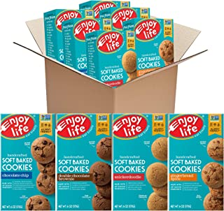 Enjoy Life Soft Baked Cookies Variety Pack, Soy Free, Dairy Free, Non GMO, Gluten Free, Vegan, Nut Free Cookies, 6 Boxes