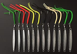 12 - A-27 Ava Type Hammered Diamond Jigs 3 oz. with Split Tube Tail Hook