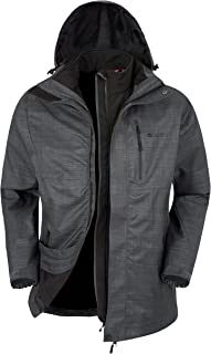 Mountain Warehouse Bracken Melange Mens 3 in 1 Waterproof Jacket