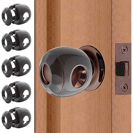 Bronze - Door knob Baby Safety Cover - 5 Pack - Deter Little Kids from Opening Doors with A Child Proof Door Handle Lock - Diddle