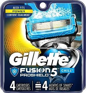 Gillette Fusion ProShield Chill Men's Razor Blade Refills, 4 Count Refills, Mens Razors / Blades
