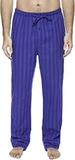 100% Cotton Mens Flannel Pajama Pants with Pockets & Drawstring