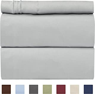 Twin Size Sheet Set - 3 Piece Set - Hotel Luxury Bed Sheets - Extra Soft - Deep Pockets - Easy Fit - Breathable & Cooling - Wrinkle Free - Comfy – Light Grey Bed Sheets – Twins Sheets - 3 PC