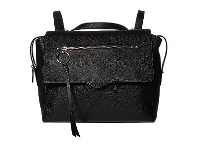 Rebecca Minkoff Gabby Messenger Backpack (Black) Backpack Bags