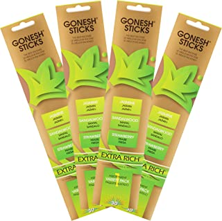 Gonesh Extra Rich Collection Variety #1 Incense (4 Pack), 4 Piece