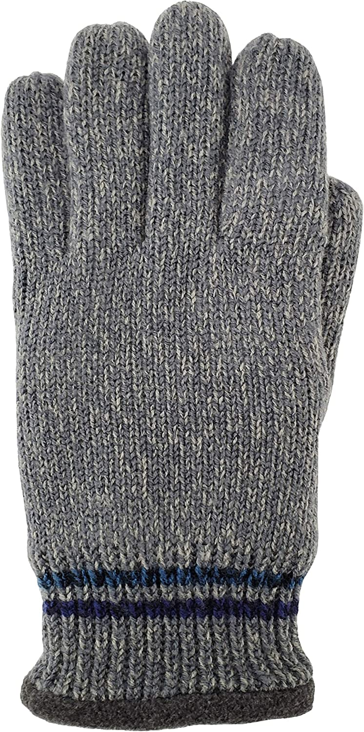 Bruceriver Mens Knit Winter Gloves with Thinsulate Fleece Lining Melange Optic