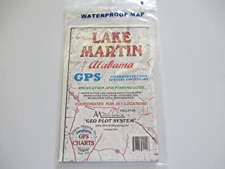 Atlantic Mapping, Inc. Lake Martin, Alabama Geographic Recrestion and Fishing Guide GPS Coordinates for Underwater Structures Topo Map